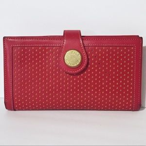 Dooney & Bourke red leather long snap wallet